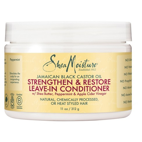 SheaMoisture Jamaican Black Castor Oil Strengthen & Restore Leave-In Conditioner - 11oz - image 1 of 1