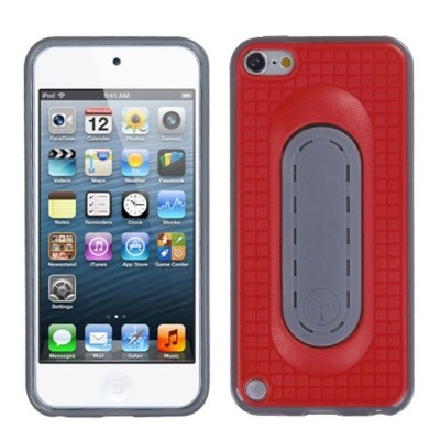 MYBAT For Apple iPod Touch 5th Gen/6th Gen Red Gray Checker Candy Case Cover w/stand