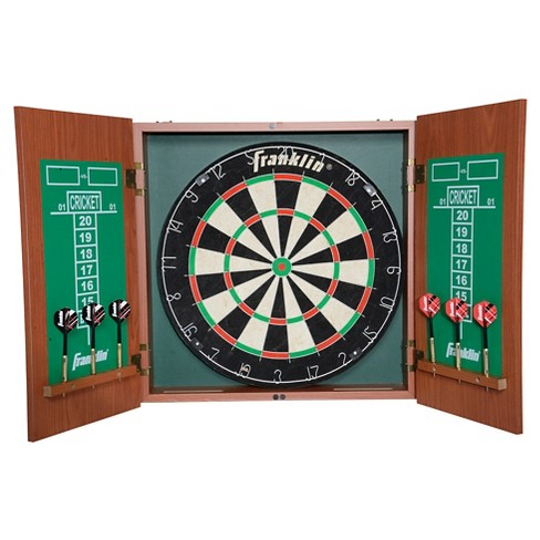 Franklin Sports Pro Strike Bristle Dartboard with Cabinet - image 1 of 4