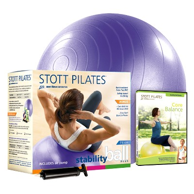 STOTT PILATES Stability Ball Plus Kit with DVD (75cm)
