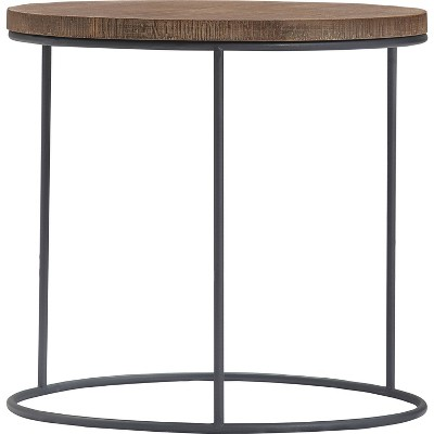 Set of 3 Berkshire Distressed Wood Nesting Side Tables Distressed Wood - Finch