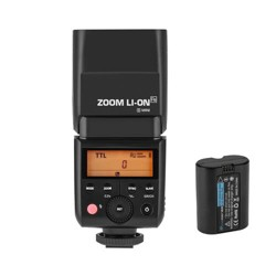 Flashpoint Zoom Li-ion Mini TTL R2 Flash With Integrated R2 Radio Transceiver - Sony Mirrorless Cameras (V350S)