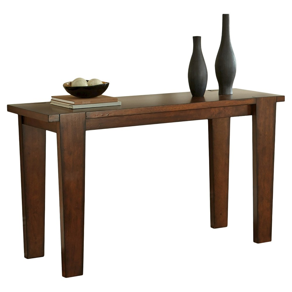 Vince Sofa Table Rustic Cherry - Steve Silver, Brown