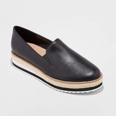 Women's Devina Hybrid Slip on Loafer - A New Day™ Black - image 1 of 3