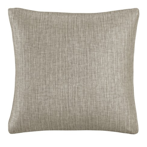 Pewter Solid Throw Pillow - Skyline Furniture - image 1 of 4