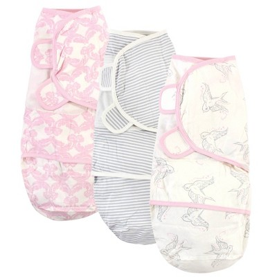Touched by Nature Unisex Baby Organic Cotton Swaddle Wraps - Bird 0-3M
