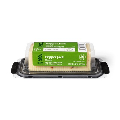 Pepper Jack Cracker Cut Cheese - 10oz/30 slices - Good & Gather™