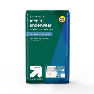 Men's Underwear for Adult Incontinence Care Maximum Absorbency Small/Medium - up & up™
