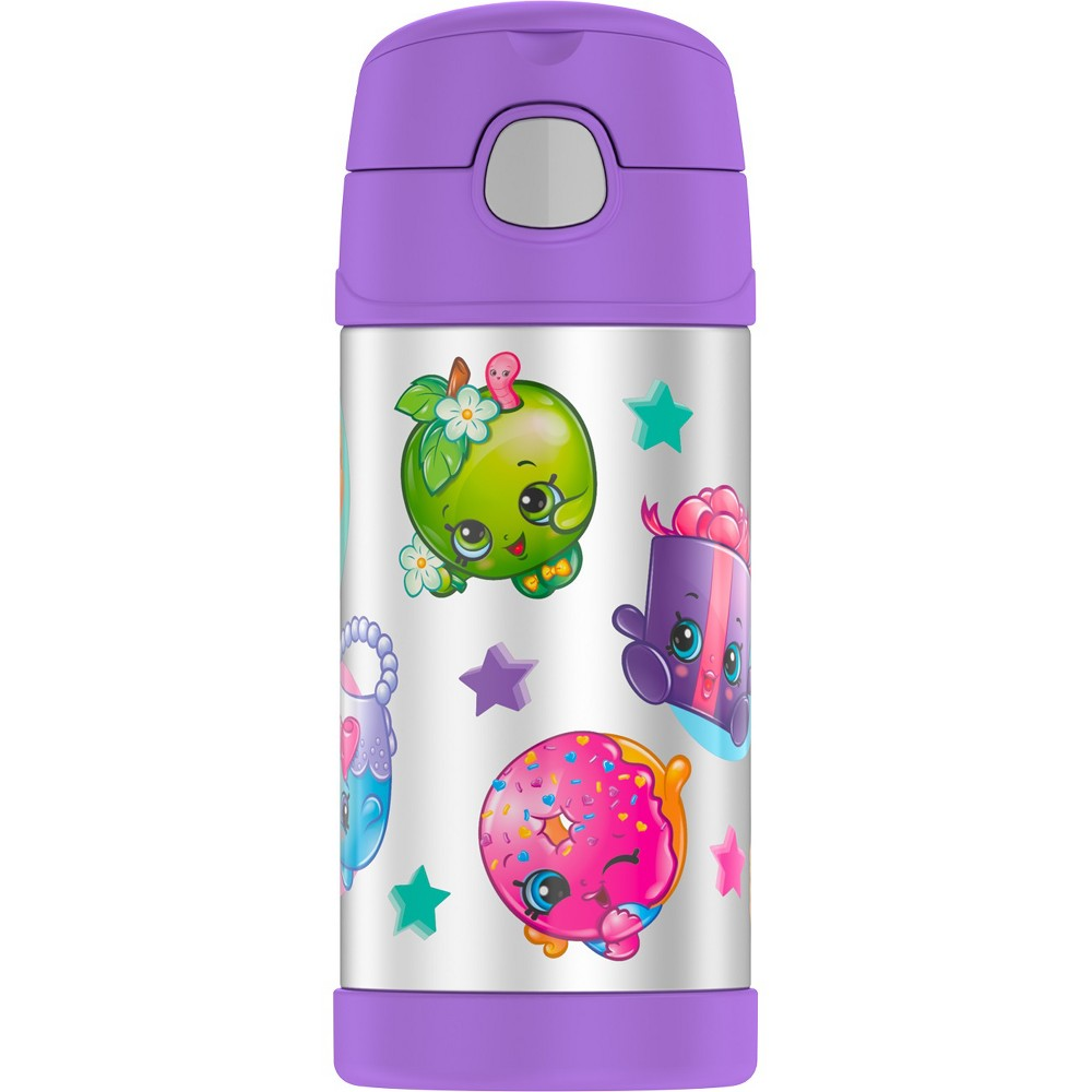 Thermos Shopkins 12oz Funtainer Water Bottle - Purple, Black