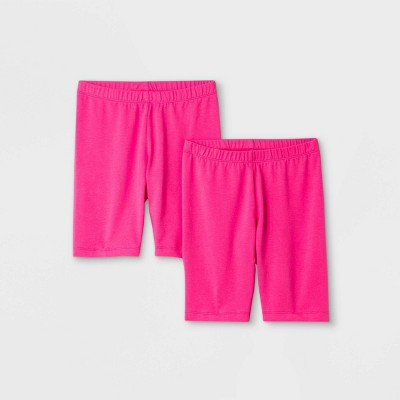 Girls' 2pk Mid-Length Bike Shorts - Cat & Jack™ Pink