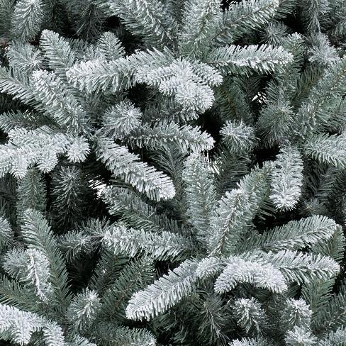 7ft Unlit Artificial Christmas Tree Flocked Balsam Fir Wonder Target