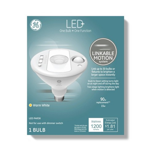 General Electric Linkable With Motion Led Light Bulb Clear