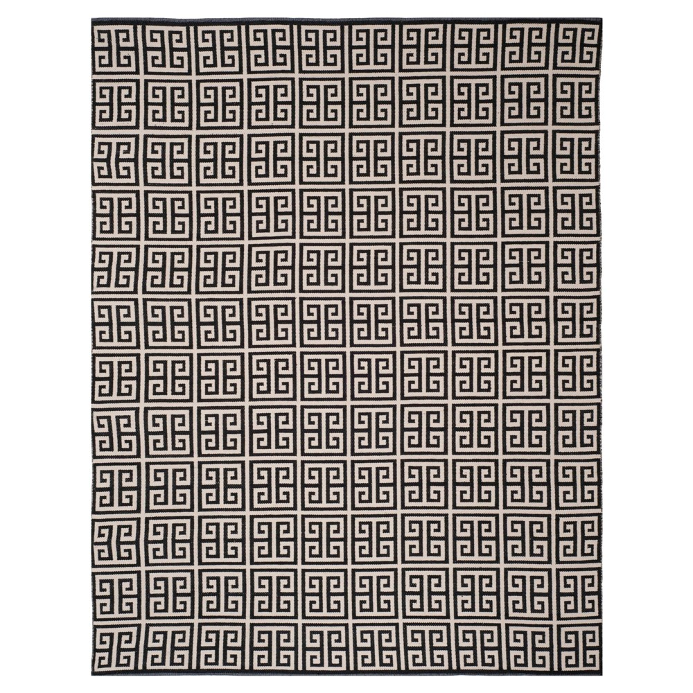 Black/Ivory Geometric Woven Area Rug 8'X10' - Safavieh