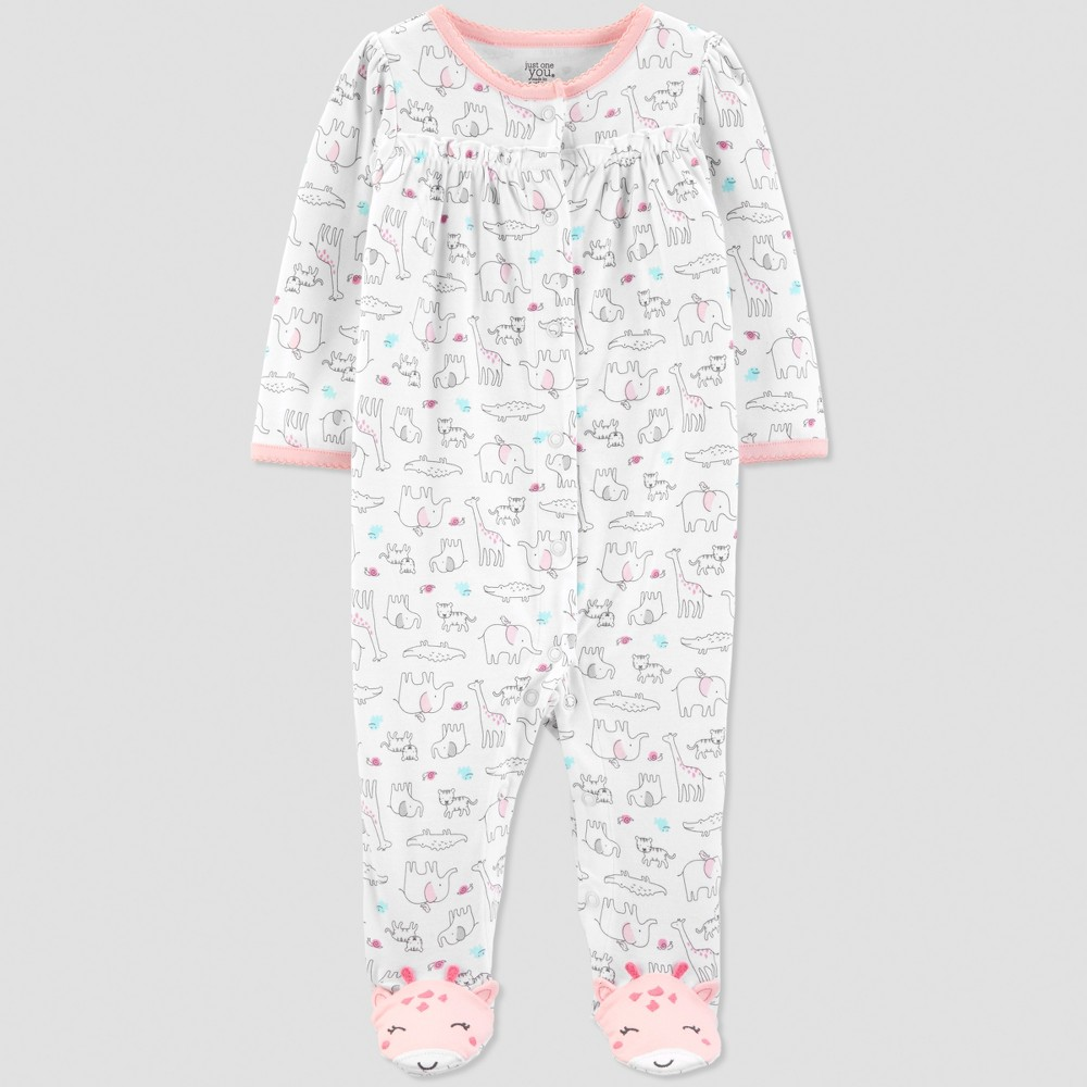 Baby Girls' Safari Sleep 'N Play - Just One You made by carter's Pink/White 9M