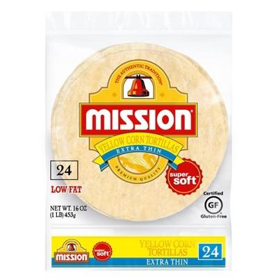 Mission Gluten Free Extra Thin Yellow Corn Tortillas - 5.6oz/24ct
