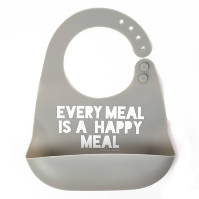 Tunno Tots Silicone Bib - Happy Meal