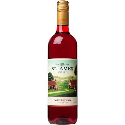 St. James Country Red Sweet Red Wine - 750ml Bottle