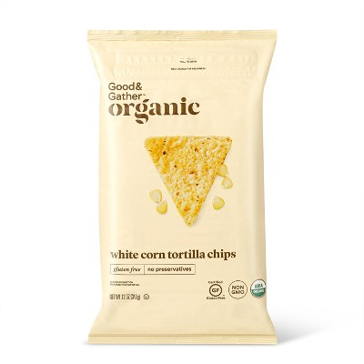 Organic White Corn Tortilla Chips - 12oz - Good & Gather™