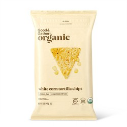 Organic White Corn Tortilla Chips - 12oz - Good & Gather™