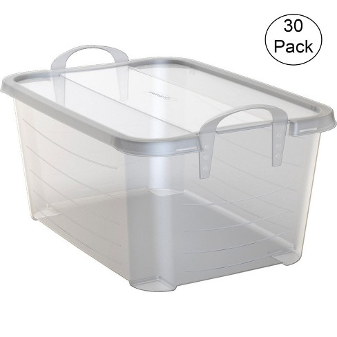 Life Story Clear Stackable Closet Organization & Storage Box, 55 Quart (30 Pack) - image 1 of 6