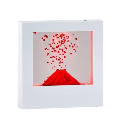 "9"" LED Volcano Light Box White - Adesso"