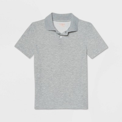 Boys' Short Sleeve Performance Uniform Polo Shirt - Cat & Jack™ Heather Gray