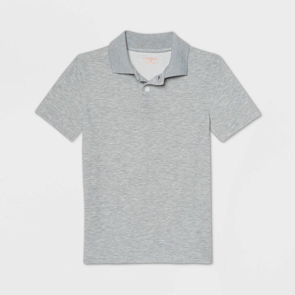 Boys 39 Short Sleeve Performance Uniform Polo Shirt Cat 38 Jack 8482 Heather Gray Xs