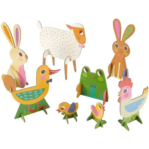 8-Pack 3D Farm Animals Jigsaw Puzzles, Double-sided Cardstock for Kids Classroom DIY Activity Set & Great Creative Toys - image 1 of 4