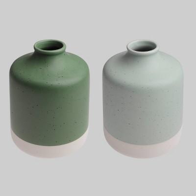 2pk Ceramic Vases - Bullseye's Playground™