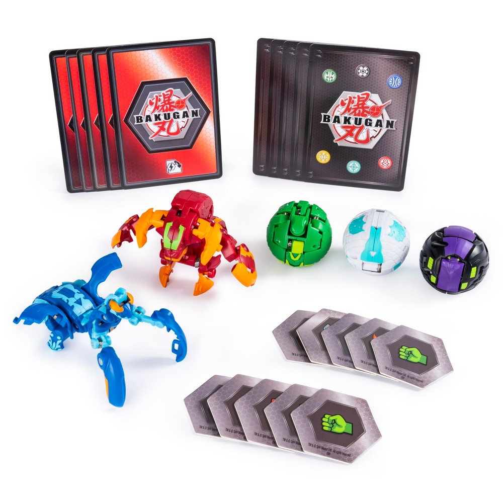 Bakugan Battle 5pk Pyrus Maxotaur and Aquos Mantonoid Collectible Cards and Transforming Creatures