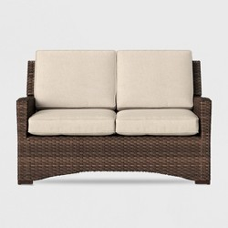 Halsted Wicker Patio Loveseat - Threshold™