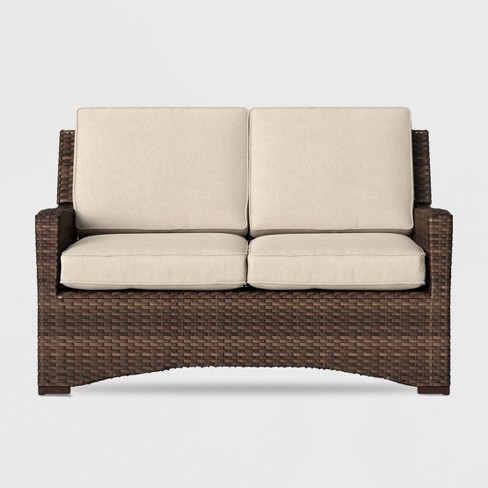 Halsted Wicker Patio Loveseat - Threshold™ - image 1 of 4