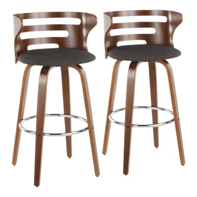 Set of 2 Cosini Mid-Century Modern Barstools with Swivel - LumiSource