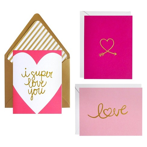 meant to be sent® Super Love Notecards 3 ct - image 1 of 2