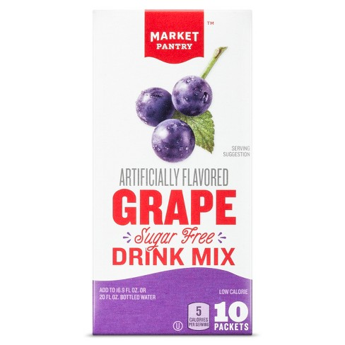 Sugar-Free Grape Drink Mix - 10ct - Market Pantry™ - image 1 of 1