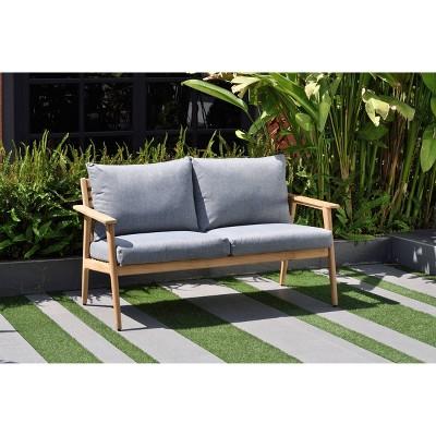Burano Patio Sofa made of Certified Teak - Gray - Amazonia