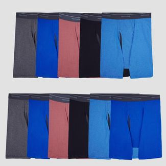 Fruit of the Loom Men's Striped 5+6 Super Value Pack Coolzone Boxer Briefs - L