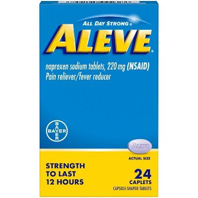 Aleve Naproxen Sodium Caplets (NSAID) - 24ct