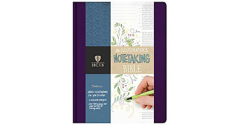 Holy Bible The Illustrator's Notetaking Bible : Holman Christian Standard, Purple Linen (Paperback) - image 1 of 1