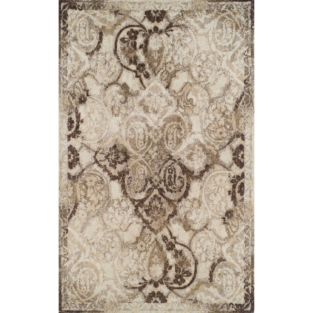 "Image of ""3'3""""X5'3"""" Brown Abstract Woven Accent Rug - Addison Rugs"""