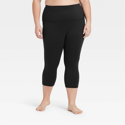 "Women's Plus Size High Rise Capri Leggings 20"" - All in Motion™"