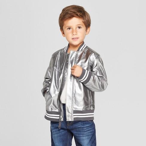 10f2cb966bf1 Genuine Kids® From OshKosh Toddler Boys  Metallic Bomber Jacket ...