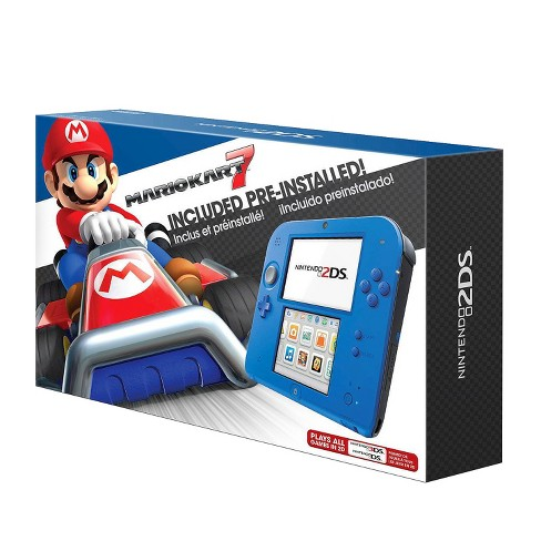 Nintendo 2ds Bundle With Mario Kart 7 Electric Blue