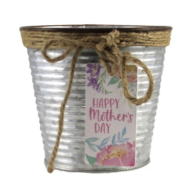 "Home & Garden 4.5"" Mother's Day Planter Tin Pot Metal Flowers Burton & Burton  -  Planters"