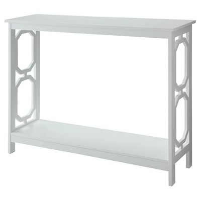 Omega Console Table White - Convenience Concepts