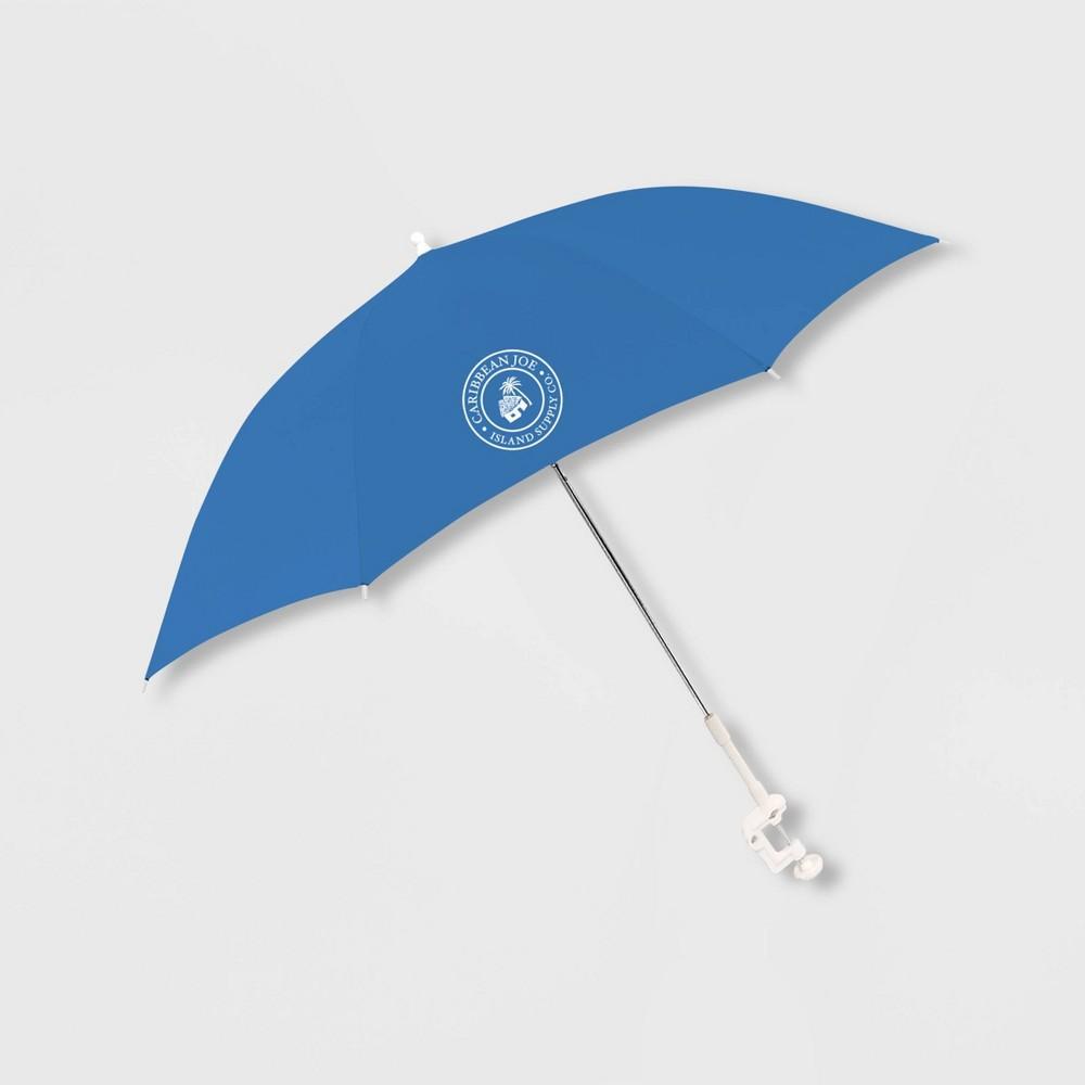 Image of Caribbean Joe Outdoor Beach Stick Umbrella - Blue