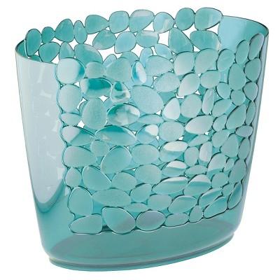 InterDesign Pebblz Plastic Oval Wastebasket - Blue (11 )