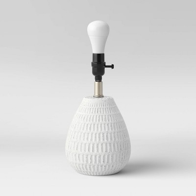 Small Ceramic Textured Table Lamp Base White - Threshold™