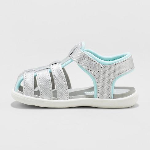 a43de475f35f Toddler Girls  See Kai Run Basics Posey Fisherman Sandals - Silver   Target