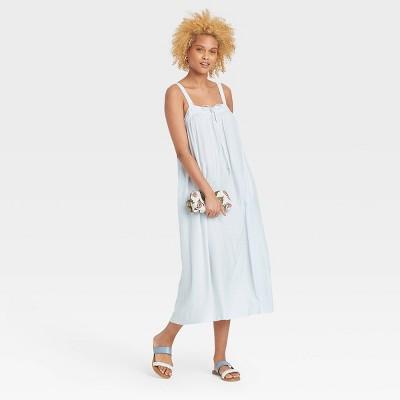 Women's Sleeveless Tie-Front Floating Dress - Universal Thread™